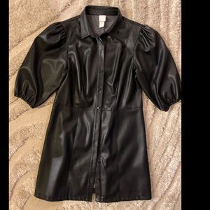 Vegan leather H&M dress
